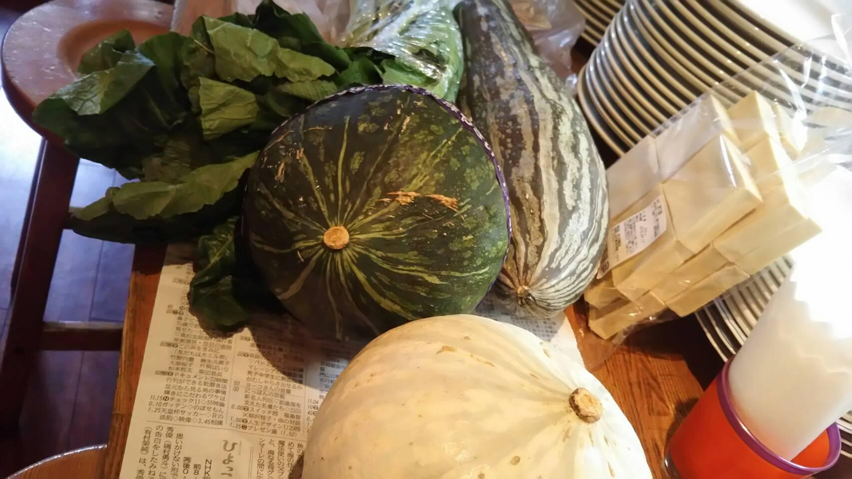 信州、安曇野から季節の野菜が届きました