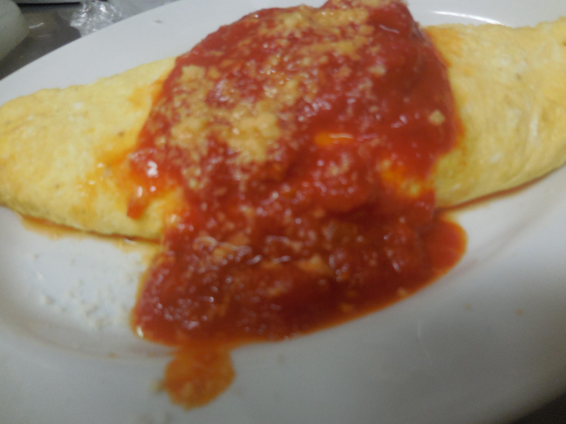 チーズ入りオムレツ