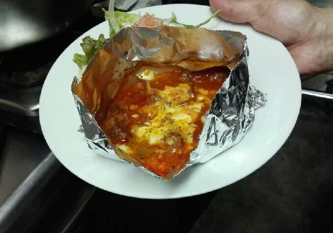 ローマ風豚肉のトマト煮 サラダ添え