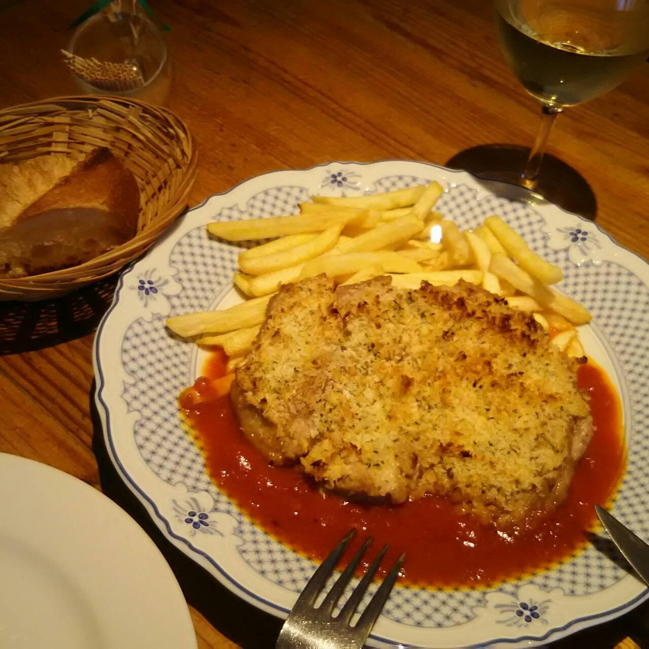 鶏モモ肉の香草パン粉焼き