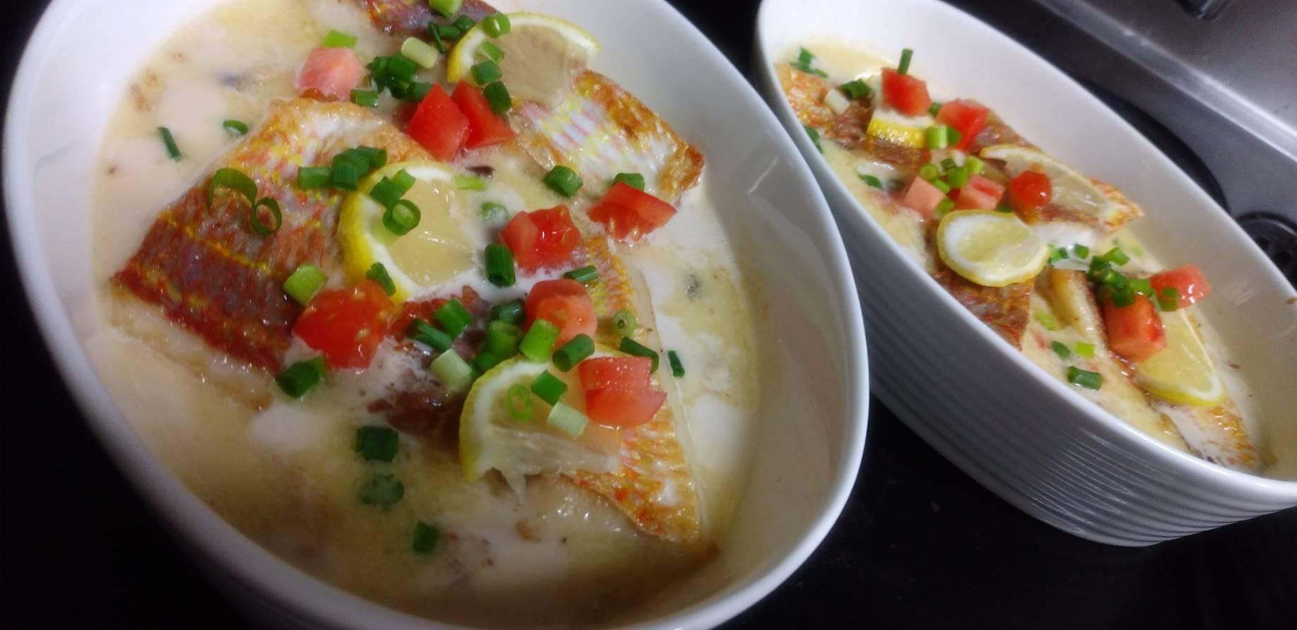 イトヨリ鯛のクリームソース煮